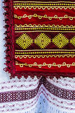 Material with romanian traditional embroidery-2 Royalty Free Stock Photos