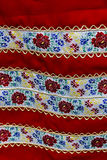 Material with romanian traditional embroidery Stock Photos