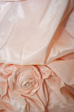 Pink wedding dress detail Stock Images