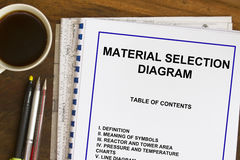 Material selection diagram Stock Image