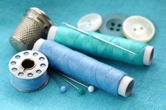 Material Sewing imagens de stock royalty free