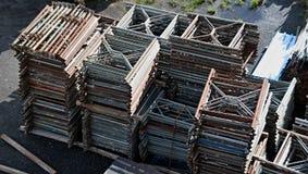Material till byggnadsställning i lagring Fotografering för Bildbyråer