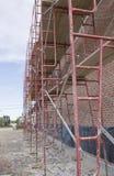 Material till byggnadsställning på konstruktionsplats Royaltyfri Foto