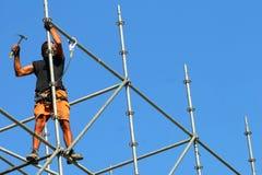 material till byggnadsställningarbetare Arkivbild