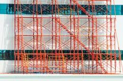 Material till byggnadsställningfält Royaltyfria Bilder