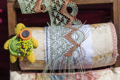 Material to Make Bobbin Lace. Stock Photography