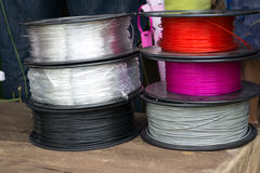 Material for use in the 3D printer. The material for use in the 3D printer Stock Photos