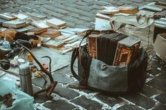material velho no mercado Fotografia de Stock Royalty Free