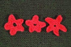 Material verde de lãs com ornamento Imagem de Stock Royalty Free