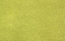 Material verde del paño grueso y suave Foto de archivo libre de regalías