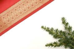 Material vermelho decorativo do Natal Fotos de Stock