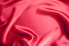 Material vermelho do cetim Fotografia de Stock