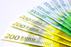 Material wealth. Money lined like a fan,photography Royalty Free Stock Photography