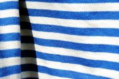 Material in weißem und in Blau 3 Stockfotografie