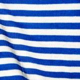 Material in weißem und in Blauem Stockfotografie