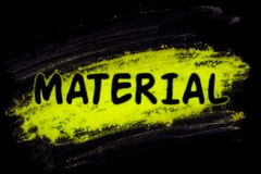 Material word with glow powder Stock Illustration