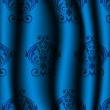 Materiale blu con il modello d'annata Fotografia Stock