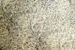 Materiale crema a forma di di Brown di stile del cardo selvatico Fotografia Stock