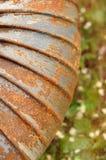 Materiale d'acciaio arrugginito Fotografie Stock