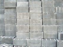 Materiale da costruzione del blocchetto del cemento Immagine Stock