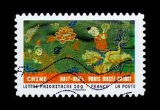 Materiale da ogni parte del mondo - Cina, serie di arte, circa 2011 Fotografie Stock Libere da Diritti