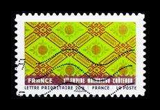 Materiale da ogni parte del mondo - Francia, serie di arte, circa 2011 Immagine Stock