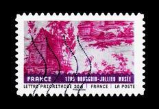 Materiale da ogni parte del mondo - Francia, serie di arte, circa 2011 Immagini Stock Libere da Diritti