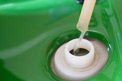 Materiale da otturazione della benzina Fotografia Stock