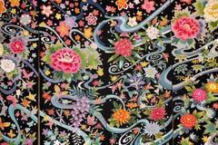 Materiale del kimono Fotografia Stock
