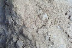 Materiale del mucchio della sabbia per costruzioni fotografia stock