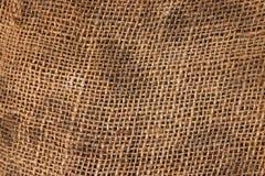 Materiale del panno di sacco del Brown. Fotografie Stock