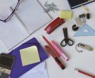 Materiale dell'ufficio Fotografie Stock