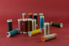 Materiale di cucito Fotografia Stock