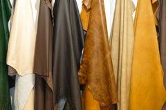 Materiale di cuoio Immagine Stock