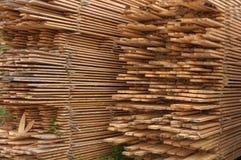 Materiale di legno della costruzione in legno per fondo e struttura Immagini Stock Libere da Diritti