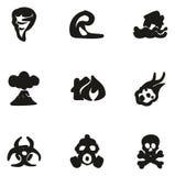 Materiale di riempimento a mano libera delle icone di Armageddon illustrazione vettoriale