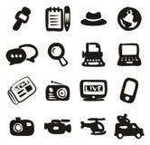Materiale di riempimento a mano libera di Or Reporter Icons del giornalista Fotografia Stock