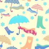 Materiale di riempimento modellato senza cuciture sul tema delle precipitazioni nevose Immagine Stock