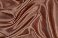 Materiale di seta del velluto del raso di struttura di Brown o carta da parati elegante de Immagine Stock