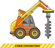 Materiale di trivellazione Macchine della costruzione pesante Illustrazione di vettore Fotografia Stock