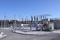 Materiale elettrico ad alta tensione Immagine Stock