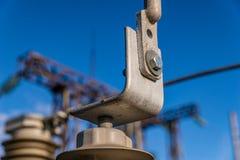 Materiale elettrico ad alta tensione di vuoto fotografia stock libera da diritti