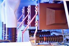 Materiale elettrico Cellula con l'interruttore di accensione fotografia stock