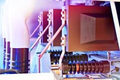 Materiale elettrico Cellula con l'interruttore di accensione fotografie stock