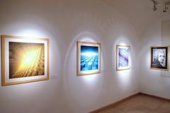 Materiale illustrativo al museo di Vasarely a Pecs Ungheria Immagine Stock Libera da Diritti