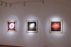 Materiale illustrativo al museo di Vasarely a Pecs Ungheria Fotografie Stock