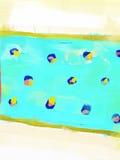 Materiale illustrativo astratto di stile della pittura a olio su tela Fotografie Stock Libere da Diritti