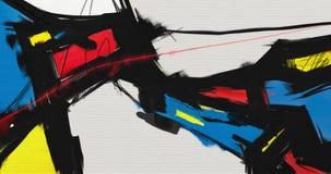 Materiale illustrativo astratto di stile della pittura a olio su tela Fotografia Stock