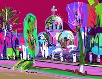Materiale illustrativo creativo contemporaneo dell'aria di Plein royalty illustrazione gratis