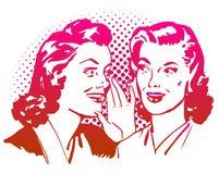 Materiale illustrativo d'annata delle ragazze del gossip Fotografia Stock Libera da Diritti